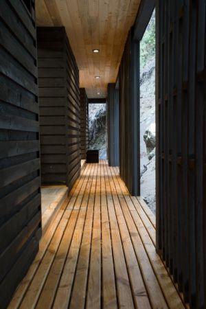 couloir - House-Todos-Los-Santos par Apio Arquitectos - Puerto Montt, Chili