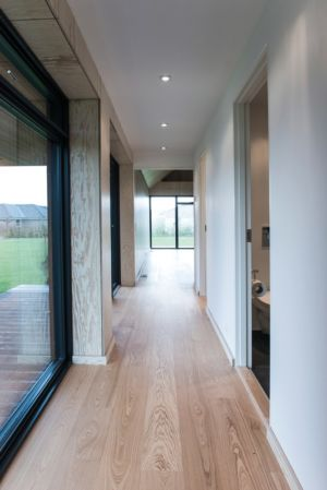 couloir - La Casa de Libre Mantenimiento par Arkitema Architects  - Danemark