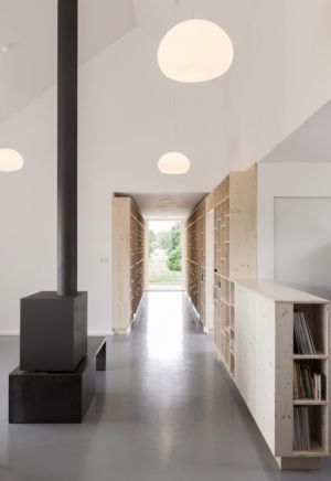 couloir - Maison Simon par Bonnefous architectes - Vezet (70), France