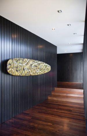 couloir - Modern farmhouse par Pattersons - Muriwai, Nouvelle-Zélande