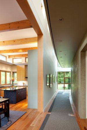 couloir - Skyline Residence par Nathan Good Architects - Portland, Usa