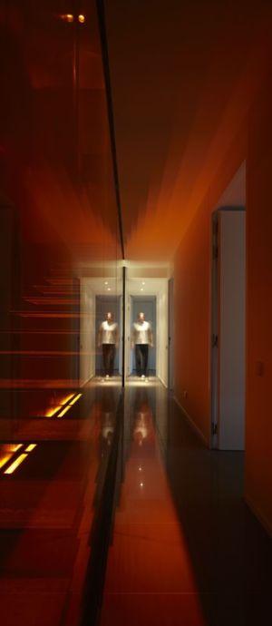 couloir - Villa T  par Boyer Percheron Assus architecture - Saint-Gély-du-Fesc, France