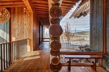 couloir - Wolf Creek Ranch par S+D Architects - Utah, Usa