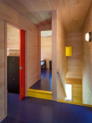 couloir accès chambre étage - Lake-House par David Salmela -  Wisconsin, USA