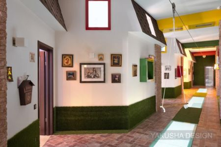 couloir des chambres - House «Ecominimalizm». par Yakusha Design - Dnipropetrovsk, Ukraine
