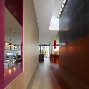 couloir entrée - Villa T  par Boyer Percheron Assus architecture - Saint-Gély-du-Fesc, France