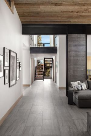 couloir & escalier accès étage - butterfly-house par Sagemodern - Californie, USA