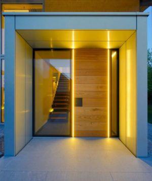 couloir illuminée & escalier accès étage - alpine-residence par Bau-Fritz - Munich, Allemagne