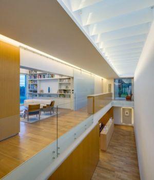 couloir niveau inférieur et étage - Club-Residence par Migdal Arquitectos - Mexico, Mexique