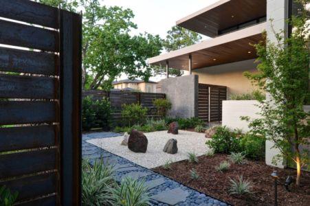 cour entrée - Underwood House par StudioMET - Houston, Usa