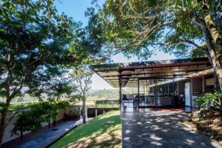 cour intérieure - Casa-Santo-Antonio par H+F Arquitetos - Santo Antônio, Brésil
