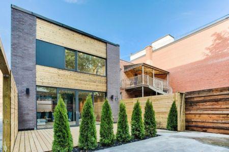 cour intérieur, façade terrasse - Résidence Waverly par MU Architecture - Montréal, Canada