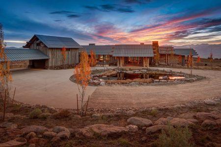 cour intérieure - Wolf Creek Ranch par S+D Architects - Utah, Usa