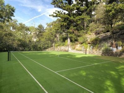 cour tennis - Bulwarra - maison kate Blanchett - Sydney, Australie