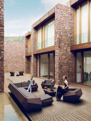 cour intérieure - Paz & Comedias House par Ramon Esteve - Sagunt, Espagne