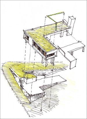 croquis 3 D - House in Q2 par Santiago Viale - Mendiolaza, Argentine