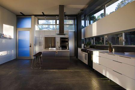 cuisine - Anthrazit House par Architects Magnus - Santa Barbara, Usa