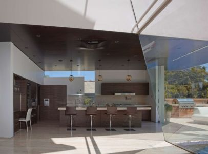 cuisine - Birch Residence par Griffin Enright Architects - Los Angeles, Usa