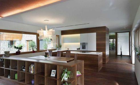 cuisine - Brunner House par Norbert Dalsass - Italie
