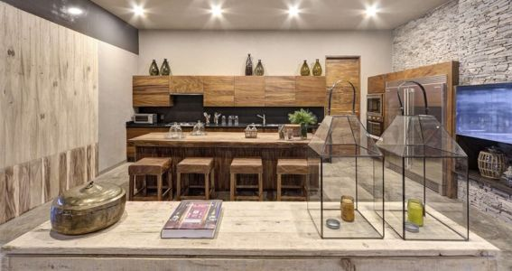 cuisine - Casa BS par  Elías Rizo Arquitectos - Tapalpa, Mexique