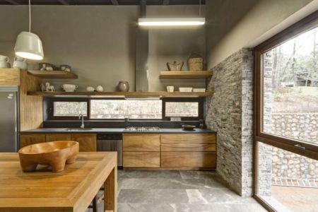 cuisine - Casa MM par Elías Rizo Arquitectos - Mexique