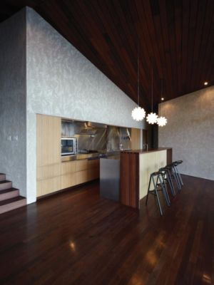 cuisine - Clifftop House Maui par Dekleva Gregoric Arhitekti - Maui, Hawaï