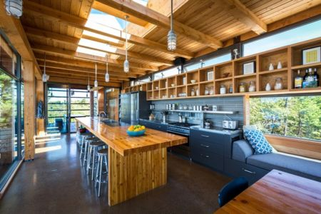 cuisine - Cottage Country par Core Architects - Baie géorgienne, Canada