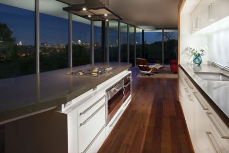 cuisine - East Windsor Residence par Alterstudio - Austin, Usa - Photo Paul Finkel