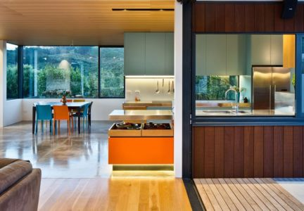 cuisine - Korokoro House par Parsonson Architects - Korokoro, Nouvelle Zélande