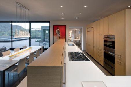 cuisine - Levin Residence par Ibarra Rosano Design Architects - Marana, Usa