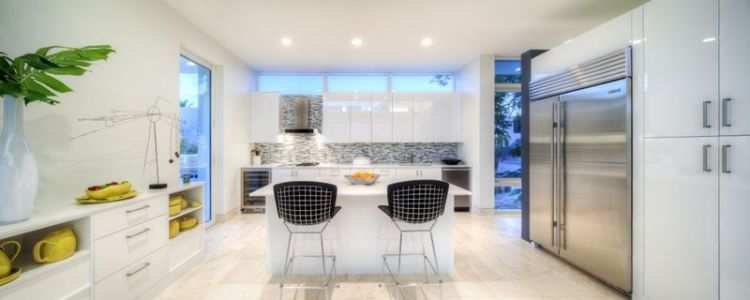 cuisine - Light Box House par Jonathan Parks Architect - Lido Shores, Sarasota, Usa