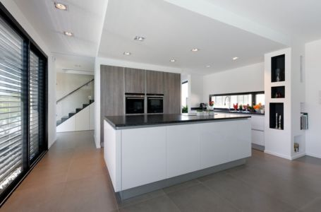 cuisine - Maison bois béton par Ideaa architectures - Colmar, France - Photo Alain-Marc Oberlé