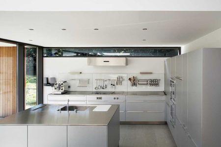cuisine - Maisons bois contemporaines par Zamel Krug Architekten - Hagen, Allemagne