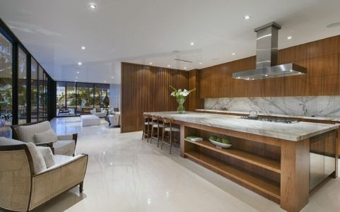 cuisine - Miami Beach Residence par New Stone Age - Miami Beach, Usa