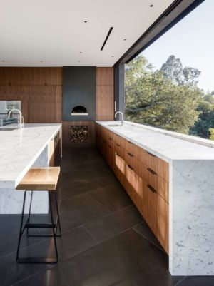 cuisine - Oak Pass Main House par Walker Workshop - Los Angeles, Usa