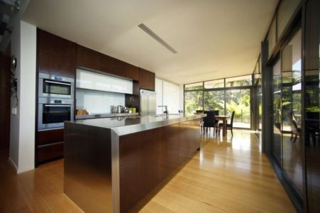 cuisine - Porotu Bach par studio MWA - Miritu Bay, New Zealand