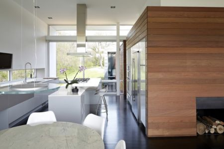 cuisine - Riverview House  Studio Dwell Architects -  Wayne, Usa
