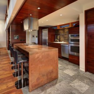 cuisine - Rock River House par Bruns Architecture - Rockton, Usa