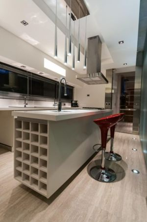 cuisine - Wanka House par Estudio Arquitectura Galera - Cariló, Argentine