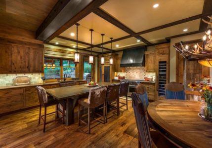 cuisine - chalet de luxe par Walton Architecture - Martis Camp, Usa
