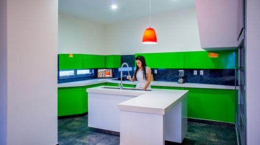 cuisine contemporaine verte - Nest house par Gerardo Ars Arquitectura - Alvarado, Mexique