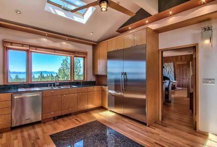 cuisine design bois - lake-view-cabin - Nevada, USA