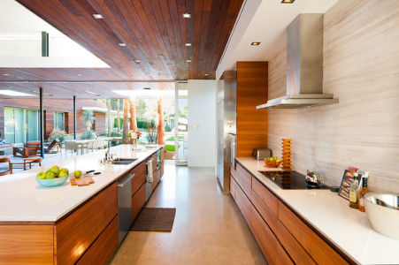 cuisine et îlot - F-5 Residence par Studio AR+D Architects - Indian Wells, Usa