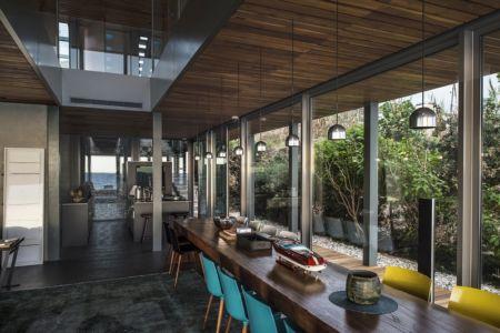 cuisine et séjour - Amchit résidence par Blankpage architects -Liban
