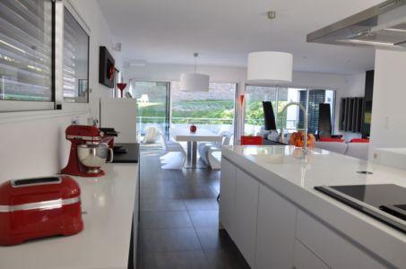 cuisine et séjour - Apple-House par Val de Saône Bâtiment - Mâcon, France