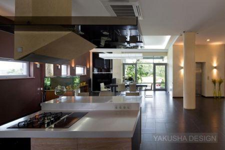 cuisine et séjour - House «Ecominimalizm». par Yakusha Design - Dnipropetrovsk, Ukraine
