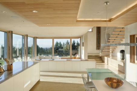 cuisine et séjour - Karuna House par Holst Architecture - Newberg, OR, Usa