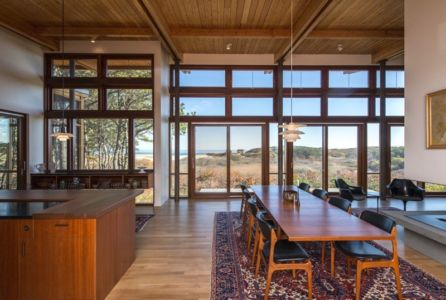 cuisine et séjour - Long Dune Residence par Hammer Architects - Truro, Usa