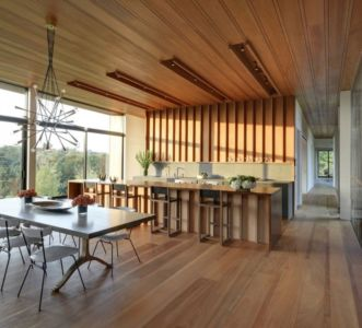 cuisine et séjour - Mothersill par Bates Masi Architects - Water Mill, Usa