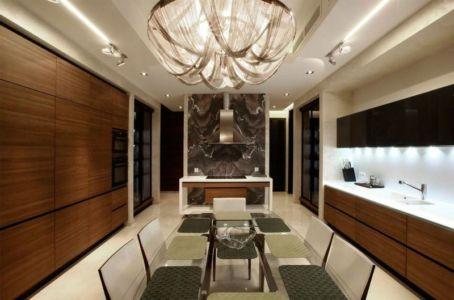 cuisine et séjour - S-House par Fourth Dimension - Moscou, Russie